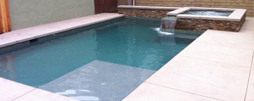 geometric contemporary pool